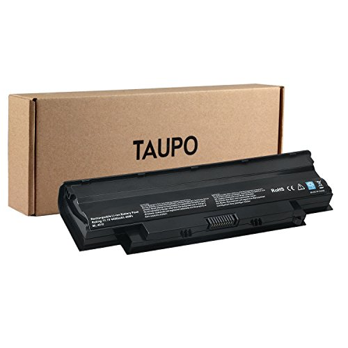 TAUPO 6-Cell Notebook Battery Replacement for Dell Inspiron 13R 14R 15R 17R 17R N3010 N4010 N4110 N5110 N5010 N7110 M501 M503 M4110,fits P/N J1KND 4T7JN -[11.1V,49wh]-12 Months Warranty