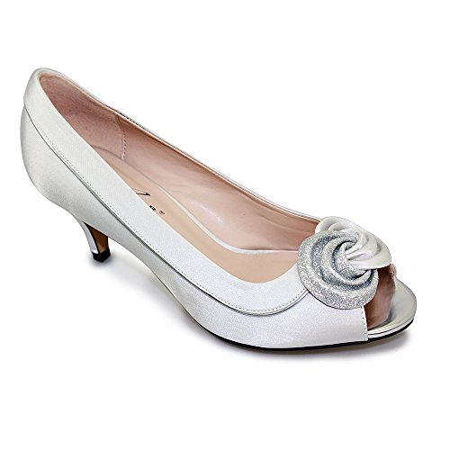 Peep FLR222 Toe Womens Lunar Silver v45wqOttTE
