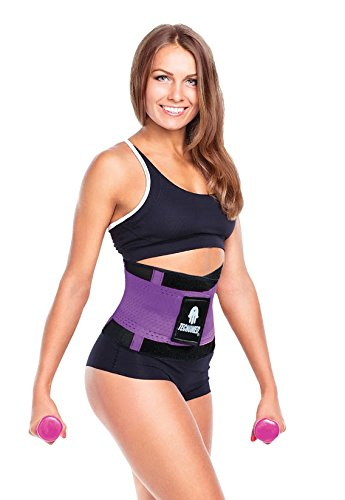 b3bd1d1f9ac81 Image Unavailable. Image not available for. Color  Tecnomed Fitness Belt  Body Shaper (Black ...