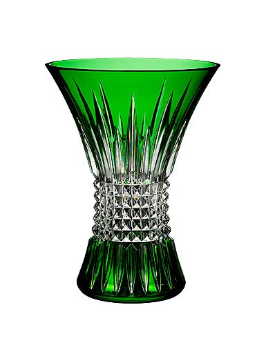 Waterford Lismore Diamond Emerald 8in Vase by Waterford