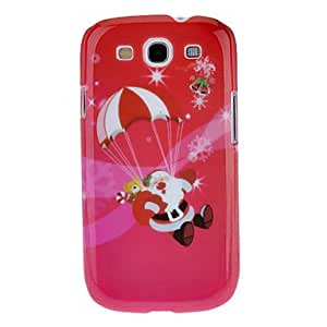 Santa Claus Landing Merry Christmas Pattern Protective Hard Back Case Cover for Samsung Galaxy S3 I9300