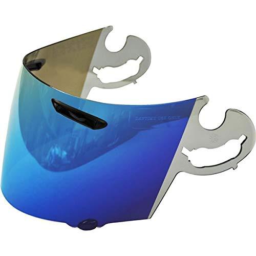 Arai Full Face Motorcycle Helmet Shield, Coated Blue Mirror