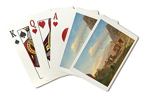 The Roman Theater at Taormina - Masterpiece Classic - Artist: Sarazin de Belmont c. 1828 (Playing Card Deck - 52 Card Poker Size with Jokers)