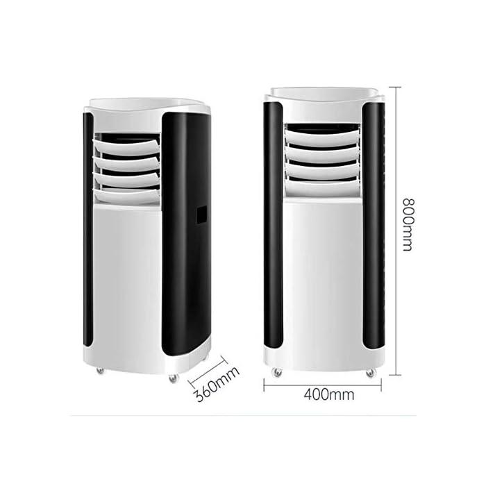416t4u3dJdL Multifunción 4 en 1: unidad de aire acondicionado portátil con funciones de refrigeración, calefacción, ventilador y deshumidificación, incluida la manguera de escape. Función de enfriamiento y calentamiento: la capacidad de enfriamiento y calentamiento de 12000 BTU, con sistema de filtración de aire, puede mejorar la calidad del aire. Función de deshumidificación: se puede usar independientemente de la función de aire acondicionado; le permite extraer hasta 90 litros de exceso de agua y humedad de la atmósfera todos los días