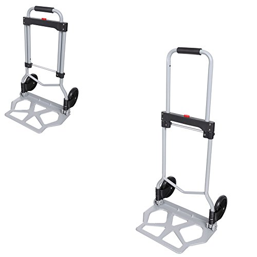 Powered Stair Lift (Folding 220 lbs Capacity Hand Truck Heavy Duty Dolly Luggage Carts Silver)