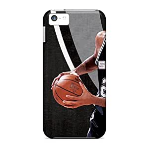 Iphone 5c LWp1541TleD Custom Lifelike San Antonio Spurs Skin Shock Absorbent Hard Phone Case -AnnaDubois