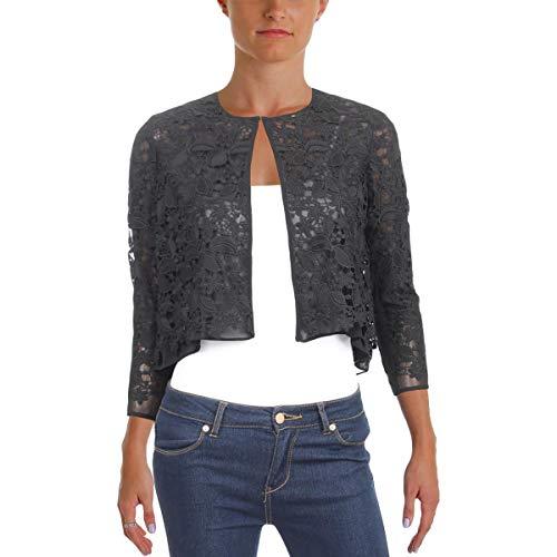 (Lauren Ralph Lauren Womens Jaxonette Lace Bracelet Sleeves Bolero Black 2)
