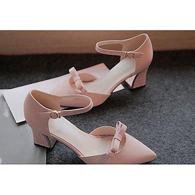 LvYuan Tacón Robusto-Confort-Sandalias-Exterior-PU-Rosa Beige rose pink