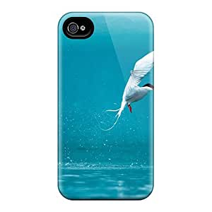 High Quality TianMao Arctic Tern Animals Skin Case Cover Specially Designed For Iphone - 4/4s