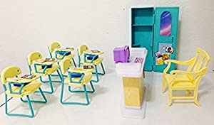 barbie house setting games size dollhouse furniture classroom 10421