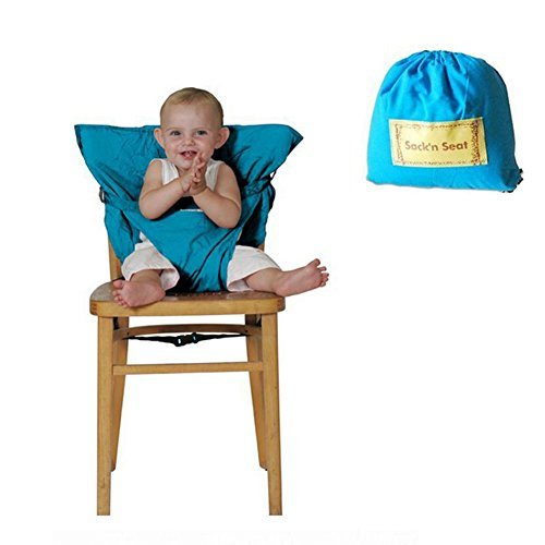 Ghaziman Baby Portable High Chair Travel Highchair Safety Harness Foldable Baby Easy Seat