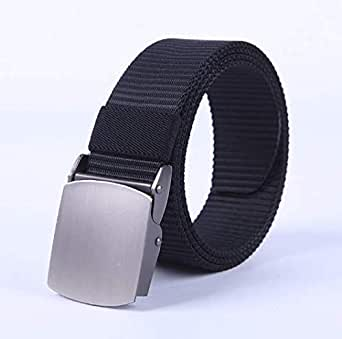 Black Canvas Belt For Men