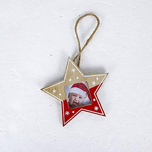 (HOCUGA VNHOME: Merry Christmas Decorations for Home Wooden Photo Frame Ornament Christmas Tree Decoration Hanging Pendant Enfeites Natal)