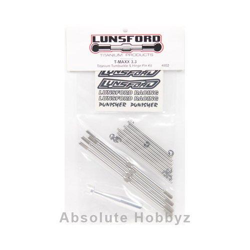 (Lunsford Traxxas T-Maxx 3.3 Titanium Turnbuckle & Hinge Pin Kit)
