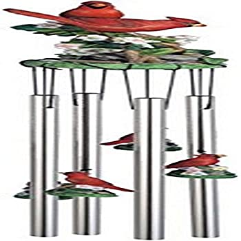 Wind Chime Round Top Cardinals Hanging Garden Decoration Windchime