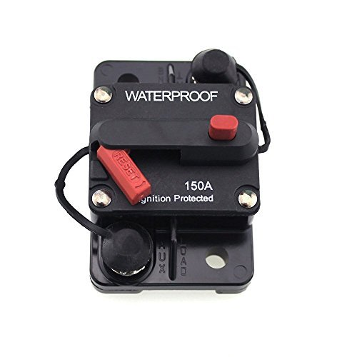 - T Tocas 150 Amp Circuit Breaker with Manual Reset, 12V- 72VDC, Waterproof (150A)