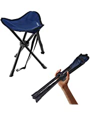 OUTAD Tripod Stool, Lightweight Folding Tripod Camp Stool for Outdoor Camping, Fishing, Picnic, Hiking, Soccer, Games, Photography, Gardening, Sporting Events, Chair With 3 Legs