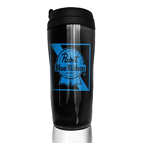 Tretonku Insulated Water Bottle, Pabst Blue Ribbon Beer Logo, Decaf Mountain Outdoor Coffee Mug Carry Hand Cup for Women Men