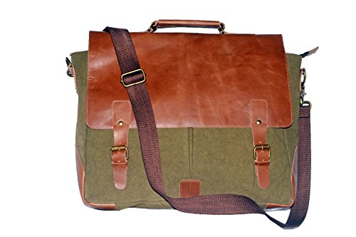 Laptop Messenger & Briefcase 17.3'' Bag, Office Bag for Men/Womens Shoulder Bag fit for Macbook/Dell/Hp/Lenovo/Acer/Asus Laptop (17.3 inch, Army Green) by Mythical Craft (Image #6)