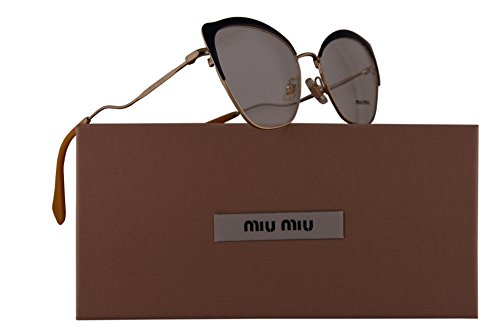 Miu Miu MU54PV Eyeglasses 54-17-145 Blue Pale Gold w/Demo Clear Lens UE61O1 VMU 54P VMU54P MU - Men Hip Eyeglasses For