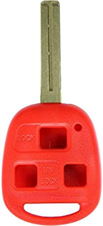CanadaAutomotiveSupply /© Short Blade for Select 2004 Lexus RX330 3 Button SHELL ONLY New Uncut Replacement Remote Head Key Shell