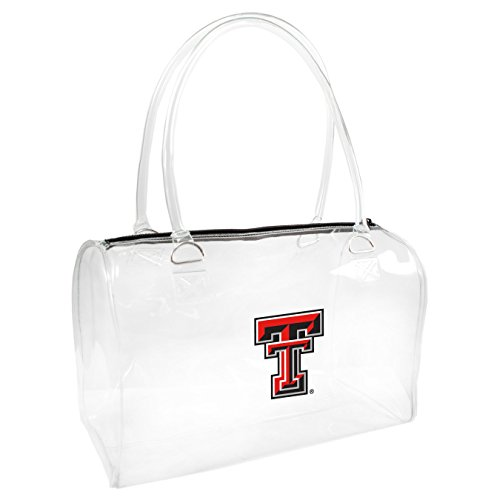 NCAA Texas Tech Red Raiders Women's Bowler Handbag, One Size, Clear