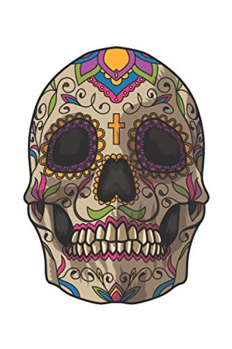 Sugar Skull Decoration: Blank Dot Grid Notebook for Day Of The Dead Lovers