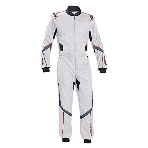 Sparco Robur KS-5 Kart Racing Suit 002335 (Size: Large, White/Gray) -