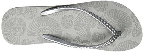 grey Chanclas flint flop flip Grau Slimshell Mujer para ZnUCBqfw
