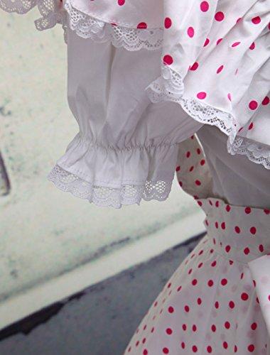 Cosplay Da Antaina A Pois Dolce Bianchi Donna Vestito Rosa Di Colore Lolita Mezza Lunghezza TRRqw5t