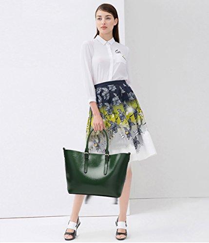 Piel Moda Bolso Capacidad Bolso Grande Bolso Bandolera Mano Chica Tisdaini Mujer de Moda Verde PU pxXXAY