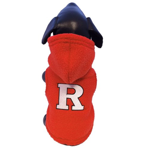 NCAA Rutgers Scarlet Knights Polar Fleece Hooded Dog Jacket, Small Review