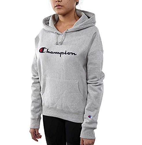 (Champion Life Women's Reverse Weave Pullover Hood (X-Large, Heather Grey))