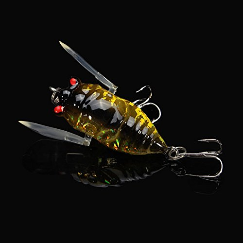 LaDicha Cigale 6G Perche Insectes Leurre Appâts Pêche Appâts Très Réalistes Avec Des Crochets