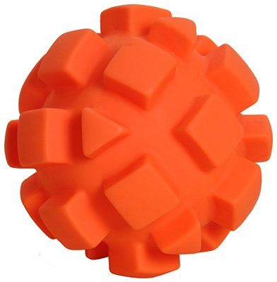 AMERICAN DISTRIBUTION & MFG CO Dog Toy, orange Bumpy Ball, 5.5-In.