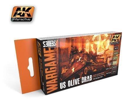 AK Interactive US OLIVE DRAB Wargame set #1131