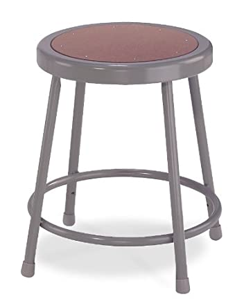 National Public Seating 6218 Grey Steel Stool with 18u0026quot; Hardboard Seat  sc 1 st  Amazon.com : stool seating - islam-shia.org