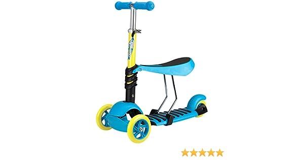 Nijdam Kids Three-Wheeler with Adjustable Seat Tri-Surfer Mini Blue/Yellow/Black