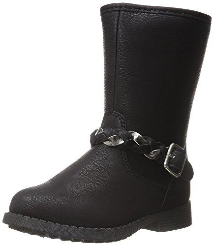 OshKosh B'Gosh Girls' REESE2 Boot, Black, 7 M US Toddler (Girls Toddler Riding Boots)