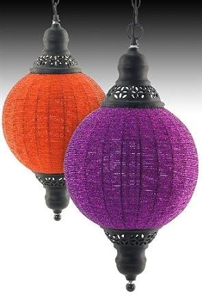 Set 2 Lamparas Techo Indias Colores 52 cm: Amazon.es: Hogar