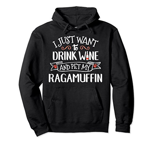 Unisex Ragamuffin Hoodie for Cat Lady Wine Drinkers 2XL Black (Cats Ragamuffin)