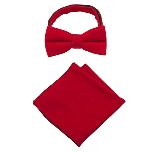 Colours Men's Bow 2 Wool Red Choose Over Handkerchief amp; Tie piece Sets Pocket Square Gift Beautiful Tins 10 in Luxury From xxA1HBwCq