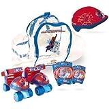 The Amazing Spider-man Quad Skates Set Quads Skates Protective Helmet/pads & Bag