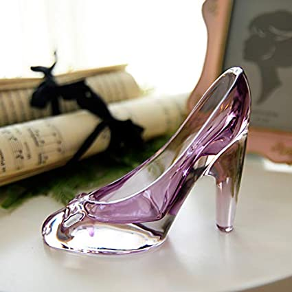 ff4d82361ca SeedWorld Figurines   Miniatures - Crystal Shoes Glass Slipper Birthday  Gift Home Decor Cinderella High-