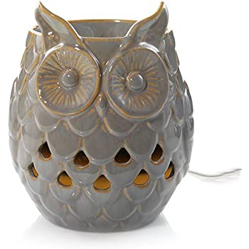 Amazon Com Owl Electric Ceramic Tart Candle Warmer White
