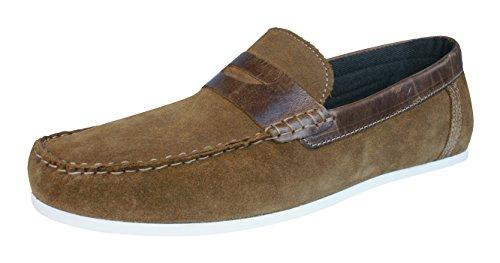 Slip Mocassins Cuir Daim Chaussures En Mens Des Tracasseries Administratives Sur Tan Wardon fq7zxIa