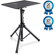 Pro DJ Laptop, Projector Stand - Adjustable Laptop Stand, Height Adjustable, Laptop Projector Stand, 23 inch to 41 inch, Good For Stage or Studio - Pyle  (PLPTS3) (Renewed)
