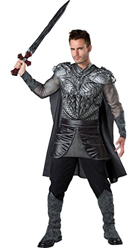 Fun World Men's Dark Medieval Knight Costume, Multi,