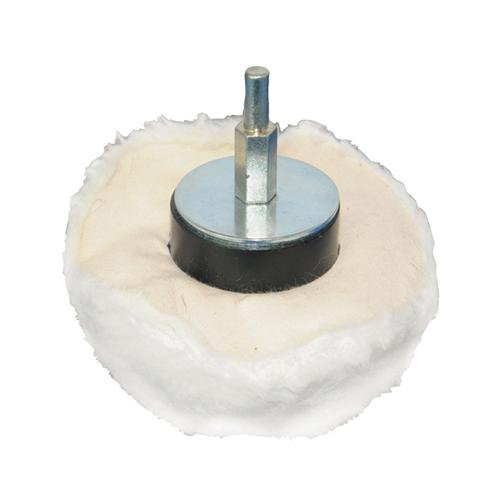 110mm Dome Polishing/Buffing Mop - 100% Soft Grade Cotton - Use With Drill Loops