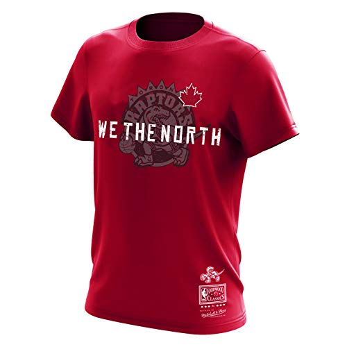 Mitchell & Ness Toronto Raptors NBA We The North Hardwood Classics Retro Logo Red Leaf Tee